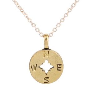 Jewelry - Compass North South East West Pendant Necklace